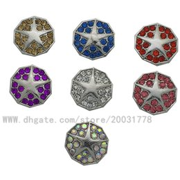 Wholesale Photo Resin Jewelry - 2017 Super fashion pentagram carving photos button for 18 mm   20 mm DIY jewelry, bracelet button