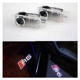 Wholesale Door Light Projector Audi - 2pcs set Car LED Door Welcome Light Laser Shadow led Projector Logo For Most AUDI S4 S5 S6 S7 S8 RS SLINE