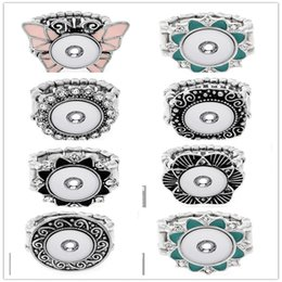 Wholesale European Fashion Style Ring - European and American fashion 12 mm n hot style alloy diamond ring clasp ring