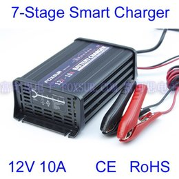 Cargador de batería de coche de 12V 10A Cargador de 7 etapas de inversión inversa automática Desulfatación del pulso para GEL / AGM / Batería de plomo desde fabricantes