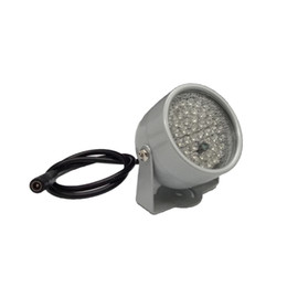 Wholesale Infrared Light For Cctv Camera - 850nm 48 IR LED Infrared Illuminator Light IR Night Vision for CCTV Security Cameras Fill Lighting metal gray Dome Free shipping
