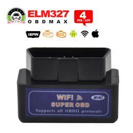 Wholesale Ipad Mini Systems - Black Mini WiFi ELM327 OBD2 Car Auto Diagnostic Scan Tool Mini ELM 327 Wifi For iPhone For iPad For iPod Android