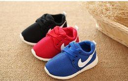 Wholesale girls european shoes - NEW Shoes Breathable Boys Sneakers Girls Sport Shoes Child Rubber Leisure Trainers Casual Kids Sneakers European shoe size: 21-30