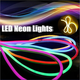 Wholesale High Tape - AC 220V 110V LED Neon Light flexible strip High Brightness Flexible Neon Tape Solt Tube Waterproof Outdoor with Plug