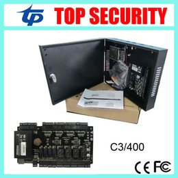 Wholesale Ip Power Control - TCP IP 4 doors access control panel access control board C3-400 door access control system with power supply and protect box