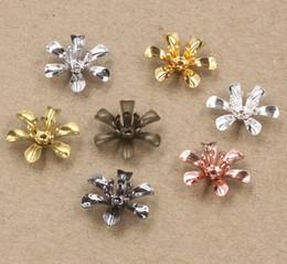 Canada 07226 14 * 5mm bronze antique argent or rose pistolet noir filigrane fleur casquettes, bricolage métal Fabrication de bijoux Résultats Composants Offre
