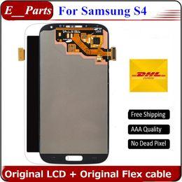 Для Samsung Galaxy S4 lcd I9500 оригинальный ЖК-дисплей Digitizer сенсорный экран Ассамблеи i9505 i9506 i337 545 без рамки от