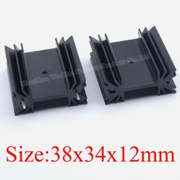Wholesale 12mm Ball Bearings - 38 * 34 *12mm Black Heatsink Electronic Heat Sink Aluminum Radiator Block To-247 Cooler For Audio