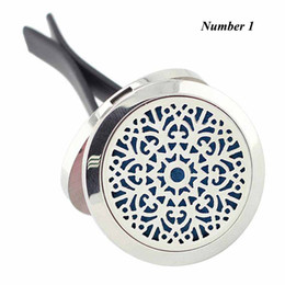 Wholesale Amazing Christmas Gifts - New Arrival 30mm Magnetic 316L Stainless Steel Amazing Grace Car Perfume Locket Car Aroma Essential Oil Diffuser Locket