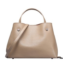 Wholesale Boston Bag Strap - Cow Leather Women's Bags Fashion Cowhide Composite Bags with Long Shoulder Strap Simply Elegant Tote Bag