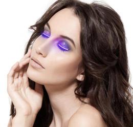 Wholesale Led Eyelashes - Newest Lashes Interactive LED Eyelashes Fashion Glowing Eyelashes Waterproof for Dance Concert