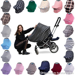 Wholesale Shopping Covers - Baby Car Seat Canopy and Nursing Cover Multi-Use 360° Coverage Breathable Fits Shopping Cart, Stroller, Infant seat Cover
