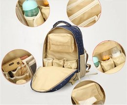 Wholesale Bagpack Outdoors - Mommy Diaper Bag Nappies Maternity Backpacks Brand Fashion Desinger Handbags Outdoor Mother Backpack Nursing Bag Bagpack Mochila Feminina