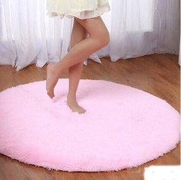Wholesale Polyester Shaggy Carpets - Hot Selling Round Shaggy Area Rugs and Carpet Super Soft 2018 Livingroom Bedroom Home Shag Carpet Free Shipping Cheap Stock