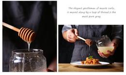 Wholesale Milk Tea Supplies - Mini Wooden Honey Stick Milk Tea Dippers Party Supply Spoon Stick Honey Jar Stick 8cm length