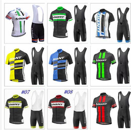 Wholesale Giant Maillot - Free shipping Giant cycling jersey mens team pro cycling wear Ropa Ciclismo summer breathable bike Maillot Culotte Sets