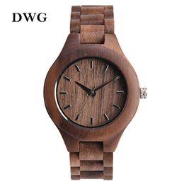 Wholesale Maple Watch - Wholesale- Brand Analog Luxury Wood Watch for Women Newest Quartz Watch Maple Walnut Wooden Wrist Watch for Girls Orologi Donna Reloj Mujer