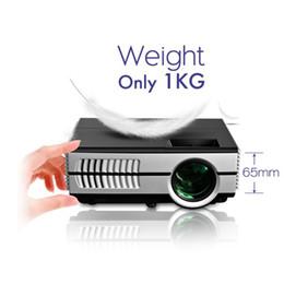 Wholesale Home Cinema 3d - Wholesale-1500lumens Handheld Mini LED Home Cinema portable 3D Projector Hdmi Multimedia Digital Video Game Proyector VS UC46 GM60