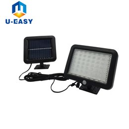 Wholesale Wall Mounting Solar Led Light - Wholesale- 2017 New arrival 56 LED Solar Lights with Motion Sensor and Wall Mount for Barn Porch Garage with Big Solar Panel LED Solar Lamp