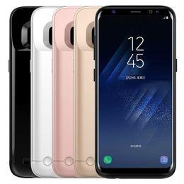 Wholesale External Battery Back Case - For S8 Case External Backup Battery Case Power Back Cover Phone Case For Samsung S8 S8plus