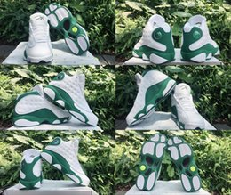 Wholesale Rays Light - 2017 New Men Basketball Shoes XIII 13 Ray Allen PE Promo White Clover Green Sports Sneakers Size US8-US13 Gym Trainers Shoes