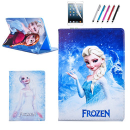 Wholesale Ipad Patent Leather Case - Wholesale-Hot selling Frozen case for Ipad air 2 high quality pu leather&TPU material smart holder cover for Ipad 6 A1566 A1567