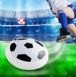 Wholesale Foam Soccer Balls - 18cm Christmas Led Air Power Soccer Ball Disc Indoor Football Toy Multi-surface Hovering and Gliding Toy Soft Foam Floating ball