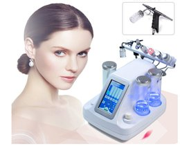 Wholesale Wholesale Oxygen Machine - 2017 HOT 6IN 1 portable water oxygen jet peeling skin care acne treatment facial rejuvenation machines