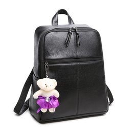 Wholesale Leather Computer Backpack For Women - Women Backpack Vintage School Bags For Teenagers Girls Shoulders PU Leather School Bag Student Backpacks
