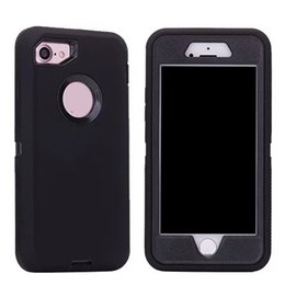 Wholesale Defender Cases - 3in1 Robot Defender case No Belt Clip No Logo for iPhone X 8 7 6s 6 Plus Samsung S8 Plus S7 edge Note 8 packaging