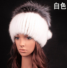 Wholesale Promotional Hats - Wholesale-New arrival Brand famous Winter Natural Mink fur hats for women , High quality warm thermal Female Caps promotional