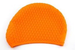 Argentina TTL123 Venta al por mayor - Durable con estilo deportivo Látex Natación sombrero flexibilidad deporte Natación Gorro de baño Sombrero 3 colores Suministro