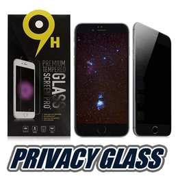 Wholesale cover shields - For Iphone X Privacy Tempered Glass Screen Protector Anti-Spy Cover Shield For Iphone 8 Plus Samsung S7 With Retail Package