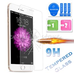 Wholesale Edge Protectors For Shipping - 9H Premium Explsion of Tempered Glass For iPhone 7 Plus 6 6S 5 SE Samsung S8 Plus S7 Edge S6 Screen Protectors Free Shipping MOQ:10PCS