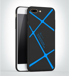 Wholesale Stylish Apple Cases - For iPhone 7 iPhone 6s plus Hybrid Creative Case Lightweight Stylish Shockproof Armor Silicone Shell Cover with Stripes