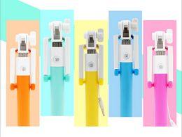 Canada Mini autocollants pliables de câble pliants de Selfie de câble pliable de selfie coloré d'autocollant câblé monopode Selfie avec le paquet au détail Offre