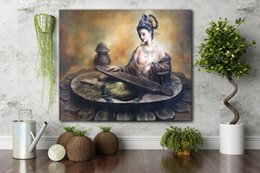 Wholesale Nude Walls - Single Unframed Beauty Fairy and Lute Oil Painting On Canvas Giclee Wall Art Painting Art Picture For Home Decorr