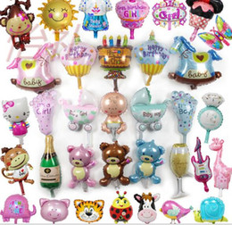 Wholesale Birthday Girl Cup - New Arrival Champagne cup beer Bottle balloons Boy Girl Baby Shower Foil helium Balloons Party Decoration Kids birthday wedding