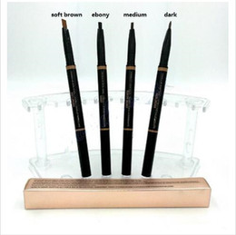 Wholesale End Brush - 2017HOT MAKEUP Eyebrow Enhancers Makeup Skinny Brow Pencil gold DOuble ended with eyebrow brush 0.2g 4 Color +GIFT dhl free shipping