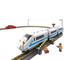 Wholesale High Speed Train Toy - LOZ 9047 Diamond Block High Speed Train Model Electronic Slot Rail Bircks Toy Subway DIY Educational Blocks Toys