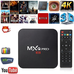 MXQ PRO 4K Amlogic S905 Núcleo Quad 64Bit Android TV Box 4K Android 5.1 OS 1G RAM 8G ROM VS X96 de Fornecedores de caixa de televisão quad core 4.4