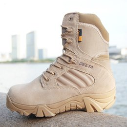 Wholesale Swat Boots Desert - Delta Tactical Boots Military Desert SWAT American Combat Boots Outdoor Shoes Breathable Wearable Boots Hiking EUR size 39-44