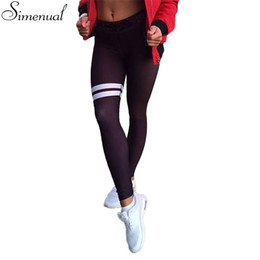 Wholesale Sexy Leggings Wholesale - Wholesale- New arrival autumn leggings for women elastic slim push up fitness striped legging activewear athleisure sexy black jeggings hot