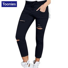 Wholesale 4xl Jeans For Women - Wholesale- 6 Colors S-4XL Plus Size Jeans Woman Fashion Pencil Pants Skinny Trousers Femlae Casual Ripped Jeans for Women Pantalon Femme