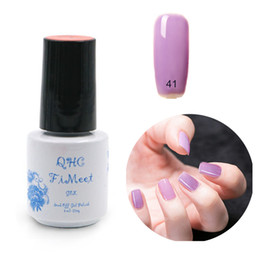 Wholesale Hot Glue Nails - Wholesale-2016 Hot Sale QHC Charming Women Sweet Girl Color Long Lasting Manicure Soak-off lacquer Nail Glue Nail Polish finger ink