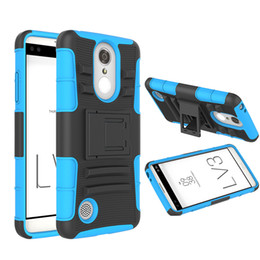 Wholesale Thick Belts Wholesale - For LG LV3 MS210 Armor Hybrid Case Thick Protective Case 3 in 1 Combo Holster Belt Clip Protective Defender Kickstand Phone Cover