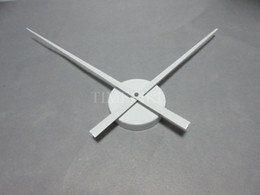 Wholesale Clock Hands For Wall - Wholesale-White Color Large Clock Needles Accessory for 3D Wall Clock DIY Big Size Clock Hands and Metal Mechanism Living Room Decoration