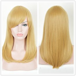 Wholesale Long Layered Wig - Long Straight layered Sexy Hair wig light Blonde Wigs Women Wig + a Cap