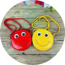 Wholesale Girls Smile Face - Cartoon Crossbody Bag Smiling Face Storage Purse Candy Color QQ Emoji Zipper For Girl Wallet Adjustable Size 10xm C R