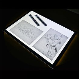 Wholesale Led Trace A4 - Wholesale-New Tattoo A4 LED Light Board Ultra Thin Tracing Surface Table Pad Tattoo Stencils Tattoo Supply Body Art